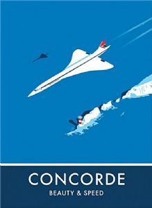 Concorde Beauty and Speed fridge magnet   (se)